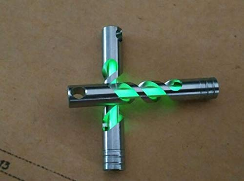 Tritium Keyring Stainless Steel Housing Glow In The Dark Self Illuminating For 25 Years Key Chain With 3 225mm Tritium Tube Green