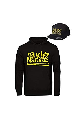 72b53e1947d Magic Custom Naughty by Nature - Pack Produit Sweat Capuche et Casquette  Original Logo - Noir