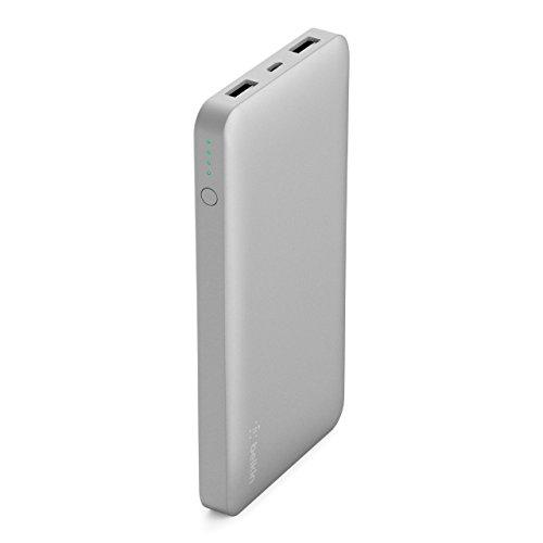 Belkin Pocket Externer Akku (10000 mAh, geeignet für iPhone X, 8, 7, iPad, Samsung Galaxy S9, S8, S7) silber