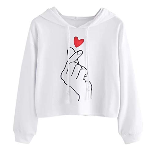 Clacce Damen Sweatjacke Kapuzenpullover Pullover Hoodie Sweatshirt Frauen Lange Hülsen Warme Winter Beiläufige mit Kapuze Sweatshirt Pullover Spitzenbluse