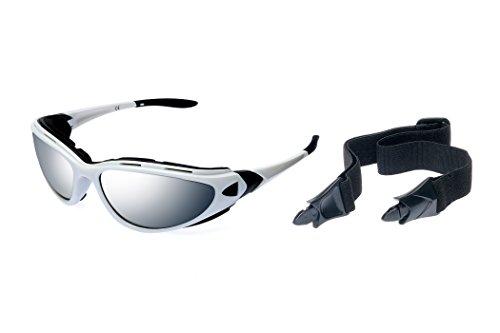 Alpland RAVS Lunettes de sport avec bandeau et branches, pour le snowboard, le ski, le kitesurf ou le vélo