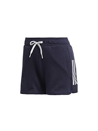 adidas women's sport id 3-stripes short, pantaloncini donna, legend ink/bianco, s 40-42
