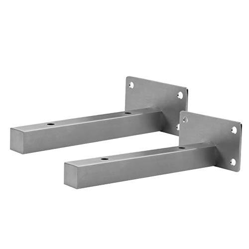 QAZW Espesar Metal SoporteEstanterías,DIY Ciego estantes,Flotador Industriales Soporte Baldas,Nueve Tallas(2 Piezas)