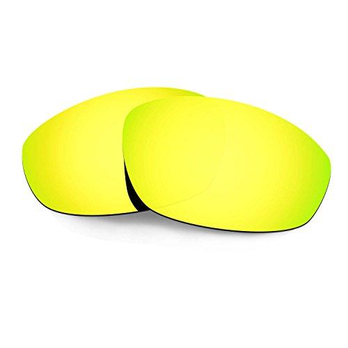 HKUCO Verstärken Ersatz-Brillengläser für Oakley Whisker Sonnenbrille 24 Karat Gold TAC Polarisiert
