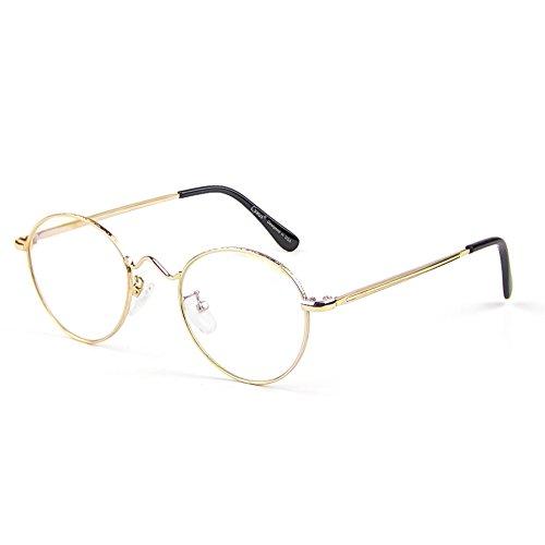 Cyxus Blaulichtfilter Computer-Gläser zum Blockieren von UV-Kopfschmerz [Verringerung der Augenbelastung] Retro Brillen, Unisex (Herren/Damen) (Gold Frame)