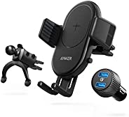 Anker Wireless Charger, PowerWave 7.5 Car Charger with Air Vent Phone Holder, 7.5W for iPhone 11, 11 Pro, 11 P