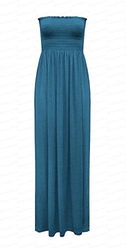 Fashion 4 Less - Robe - Sans Manche - Femme bleu sarcelle