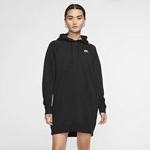 Nike Damen Sportswear Essential Kleid, Schwarz/Weiß, 2XL