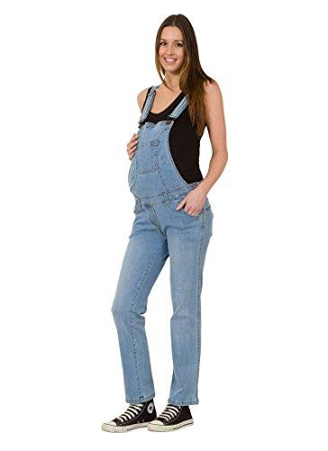 USKEES GRACE Maternity Dungarees - Palewash Denim Blue Pregnancy Overalls jean GRACEPW Test