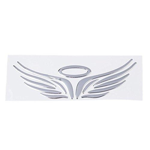 Aufkleber Auto - SODIAL(R) 3D Chrom Engels-Fluegel Aufkleber Abziehbild Auto Wagen Emblem Abziehbild Dekoration Farbe Silber