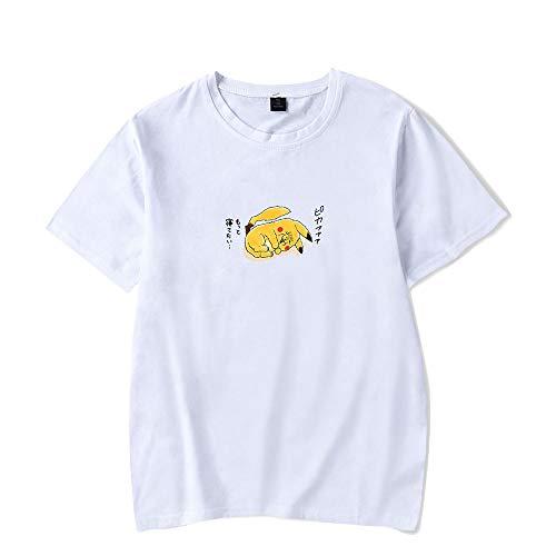 WQWQ Pokemon Kurzarmhemd Pikachu Weihnachtst-Shirt Pokémon Kostüm Sportmode Pika Geschenk,C,XL