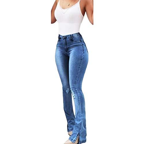 K Youth Vaqueros Cenidos De Tiro Alto Mujer Elastico Vaqueros Mujer Acampanados Slim Casual Jeans Mujer Acampanados Pantalones De Mezclillade Para Mujer Largos Vaqueros Anchos Mujer Tallas Grandes