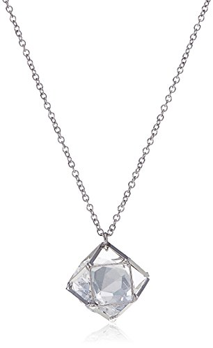 Forever 21 Pendant for Women (0019640702_00196407021_Silver and Clear)(23000001586002)