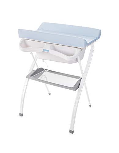Bañera alta Spalsh ZY Baby - compacta con cambiador, baño para bebes, asiento anatómico - Zippy Azul...