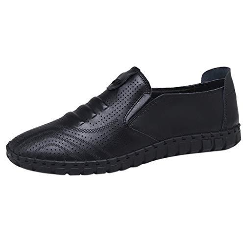 Yearnly Herren Outdoor Freizeitschuhe für Herren Round Toe Loafers Pull-on Hollow Mikrofaser PU Lightweight Cosy Breathable Dauerhaft -