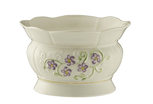 Belleek Pottery Floral Irish Flax Bowl by Belleek Pottery Irish Pottery