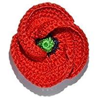Spilla papavero rosso gioielli fatti a mano uncinetto regalo per lei per lui natura estate