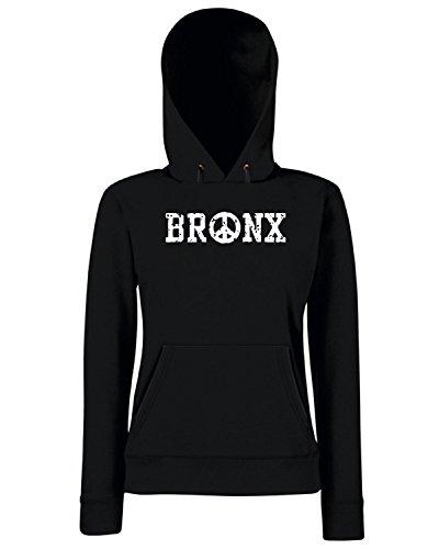 T-Shirtshock - Sweats a capuche Femme TSTEM0147 bronx peace Noir