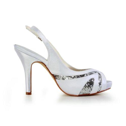 Jia Jia Wedding 37043 chaussures de mariée mariage Escarpins pour femme Blanc