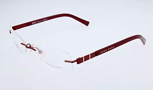 BOSS Hugo Unisex-Erwachsene Hugo Orange Brille Brillengestelle, Schwarz, 54