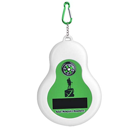 Haushalts Mückenschutz, Outdoor Haushalt tragbare Solar Ultraschall Lampe Elektrische Moskitoschutz Mückenfalle Loxmy Lampen Fliegenfalle Zapper Insektenschutz anti Mückenlicht (Grün)