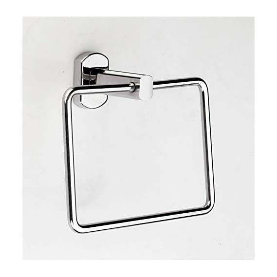 Salonica Stainless Steel Towel Ring Holder (Large; Silver)