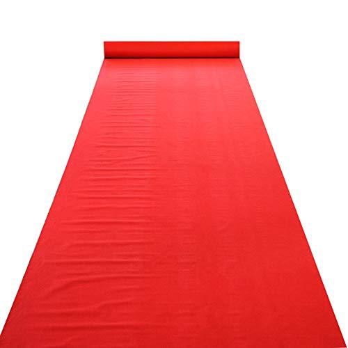 Hochzeit Läufer Ultra Dünn Einweg Matte Festival Event Feier Party Teppiche (Farbe : Rot, größe : 1x20m) ()