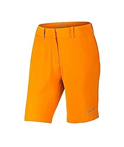 Short Bermuda Uni À Taille Basse Pour Femme Orange