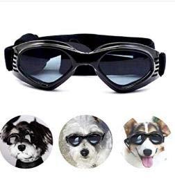 Zwini Hundebrille, modische Sonnenbrille, wasserdicht, Anti-UV-Schutz, für kleine und mittelgroße Hunde, Schwarz