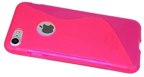 Iphone 7 // S-Line TPU SchutzHülle Silikon Hülle Silikonschale Case Cover Zubehör Bumper in Blau @ Energmix Pink