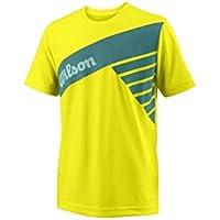 Wilson B SLANT TECH TEE - Camiseta, Niño, Amarillo(SAFETY YELLOW)