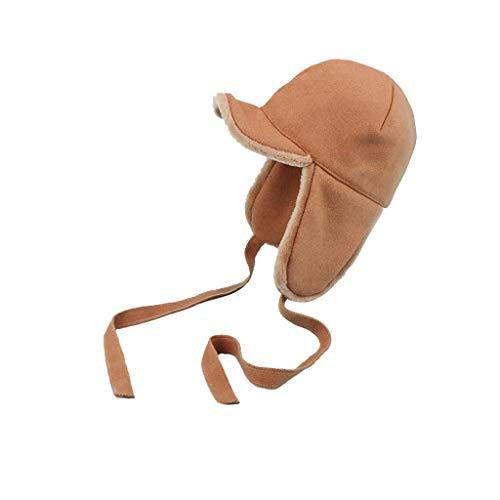 Nosterappou Chapeau dôme d 'Hiver, Chapeau Adorable et Doux pour la Jeunesse, Bonnet épais, Chaud et Confortable pour la Protection de l'Oreille, Superbe Chapeau de Fille Mignonne, épais et Doux