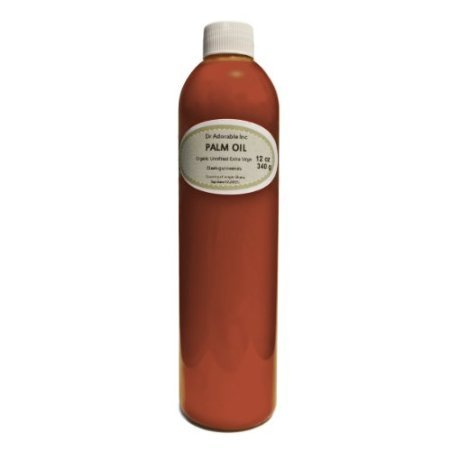 Raw rojo Virgen Extra Aceite de palma orgánico sin refinar 12oz