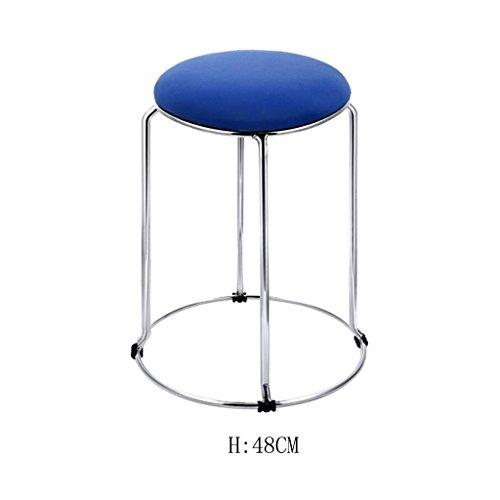 Möbelhocker bequemer Stuhl, Moderne Küche Hocker mit Metall Beine High Hocker Bar Hocker PU Seat Frühstück Bar, Edelstahl Vier Ecke Hocker Füße, Ring Höhe 36-48cm, 12 - Fuß-ring-barhocker