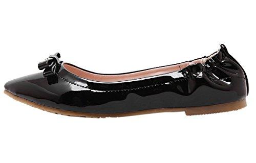 DQQ da donna, a punta aperta, con fiocco sul piatto Nero (nero)