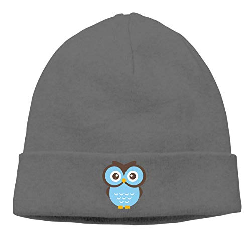 Funny Unisex Fashion Hip-Hop Knitted Hat for Mens Womens Glasses Owl Unisex Cuffed Plain Skull Knit Hat Cap Head Cap