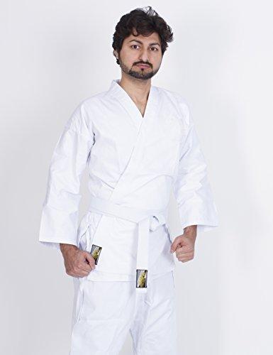 Karateanzug weiß Schwergewichts- Premium Qualität Leinwan Hawk Große 100 bis 200