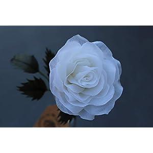 Handgefertigte Rose aus Krepppapier & Wachs/Wachsrose/haltbare Rose