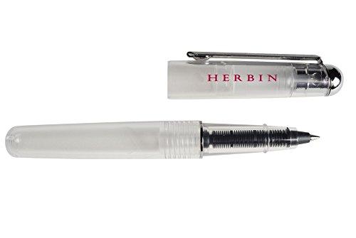 J Herbin red marble glass dip pen