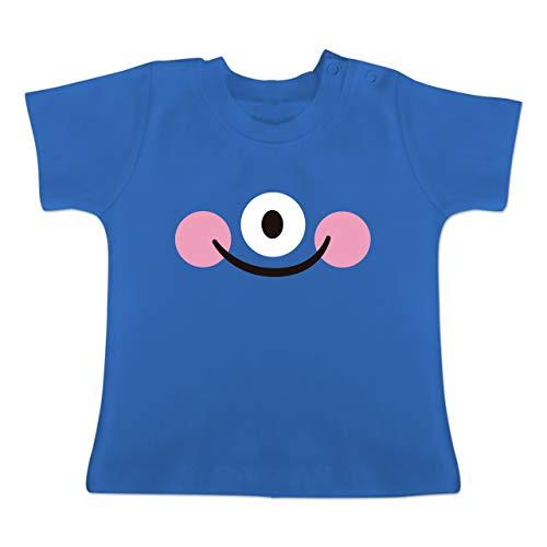 Karneval und Fasching Baby - Monster Kostüm Auge - 12-18 Monate - Royalblau - BZ02 - Baby T-Shirt Kurzarm