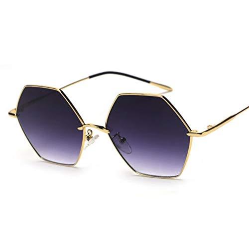 TIANKON Metall Hexagon Sonnenbrille Frauen Mode klare linse Brillen Rahmen männer uv400,A5d