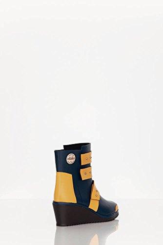 Nokian Footwear by Julia Lundsten - Bottes en caoutchouc -Strap Wedge- (Originals) [SW130] bleu foncé, orange