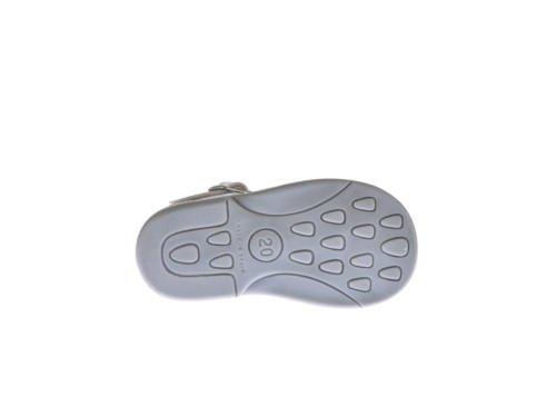 Sandales pour Petites Filles Première Calzadura mod.928. Chaussures Enfant Tous Peau Made in Spain Produit de Qualité. Blanc Cassé - argent