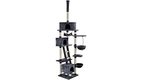 Silvio Design Kratzbaum-Deckenspanner Rocky, B/T/H: 70/50/230-250 cm, dunkelgrau dunkelgrau