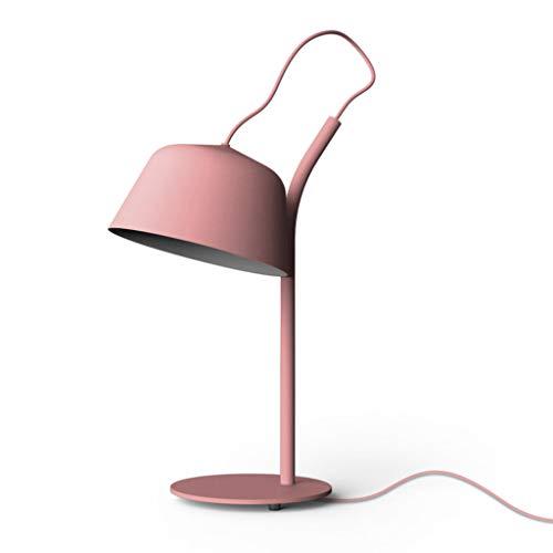 Baianju Le Premier Choix du Designer de Lampe de Table, Lampe de Chevet/Lampe de Bureau de Style créatif Nordique (Color : Pink)