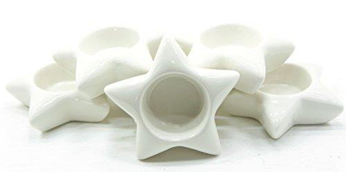 6 Velas Yankee Candle de cerámica Blancas con Forma de Estrella para Velas de té, Accesorios de decoración, Velas no Incluidas.