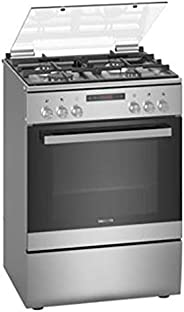 Siemens 60X60 cm 4 Gas Burners Free Standing Gas Cooker with Fan inside oven, Stainless steel - HX8P3AE50M, 1