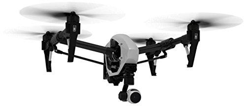 DJI DJIIN1R Inspire 1 Aerial UAV Quadrocopter Drohne mit Integrierter 4K, Full-HD Videokamera, Digitaler Fernsteuerung schwarz/weiß - 2