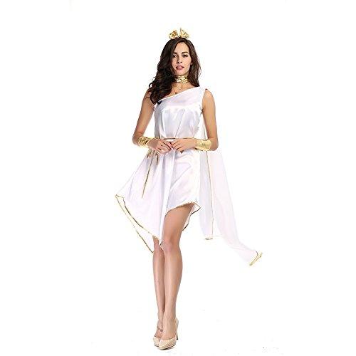 Griechische Göttin Kostüm für Damen Olympisches Kleid Sexy Griechin Antike, Langes, edles Kleid mit Kopfschmuck
