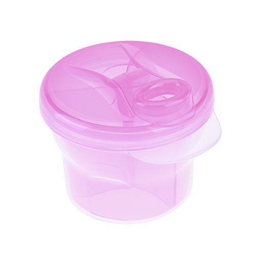 Preisvergleich Produktbild Multifunktionale drei Gitter Milch geschichteten Gitter, BPA frei,Rosa